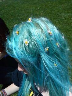light sky blue hair