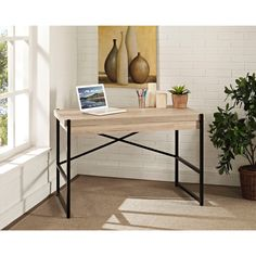 The Denver 48-inch desk is the ideal workstation for laptop users and combines fine construction and sturdy design with a contemporary look that easily fits into many decor styles. Complete with a drop-front tray, stay organized with the Denver desk.