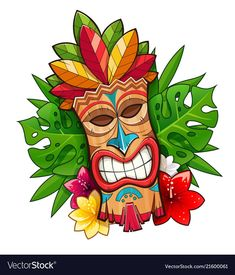 Find Tiki Tribal Wooden Mask Hawaiian Traditional stock images in HD and millions of other royalty-free stock photos, illustrations and vectors in the Shutterstock collection. Thousands of new, high-quality pictures added every day. Décor Tiki, Totem Tiki, Tiki Art, Tiki Tattoo, Hawaiianisches Tattoo, Totem Tattoo, Tiki Hawaii, Hawaiian Tiki, Hawaii Hawaii