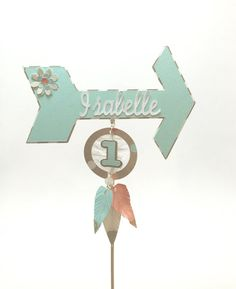 Tribal Boho Chic Cake Topper Personalized by EllasPartyDesigns