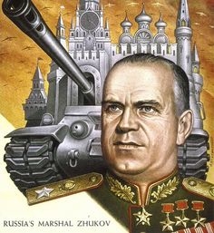 Marshall Georgy Zhukov 1955 TIME cover art by Boris Artzybasheff