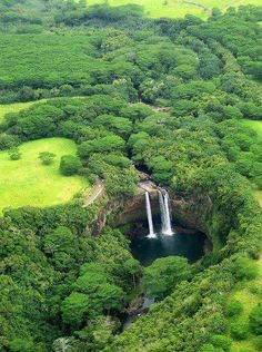 Wailea Falls , Kauai. Go to www.YourTravelVideos.com or just click on photo for home videos and much more on sites like this.