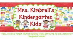 Mrs. Kimbrell's Kindergarten: January 2012