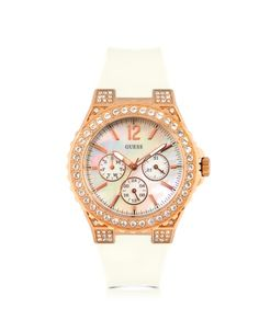 Hyperactive Overdrive Glam White Rubber Strap Women's Watch