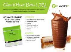 Protein shakes aren't just for drinking! Although, there are some AWESOME shake recipes here! Use It Works ProFit Protein Shake powder in recipes to pack them FULL of good protein and add GREAT taste to your food! Pb And J Smoothie, Smoothie Cup, Ways To Eat Healthy, Healthy Snacks, Healthy Recipes, Eating Healthy, Easy Recipes, Healthy Living, Amazing Recipes