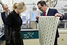 Steve Mnuchin and wife take picture with $1 bills and the internet goes crazy   THE OTHER EYEWITTNESS - news   Scoop.it Sallie Mae, Military Spending, Steven Mnuchin, Robert Reich, Trump Taxes, Fiscal Year, Capital Gain, Previous Year, Budgeting