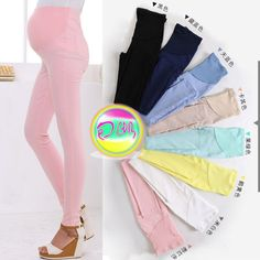 Candy Elastic Pregnant Women Casual Prop Belly Pants Spring Stretch Leggings Pencil Pants Slim Trousers Clothes Free Shipping