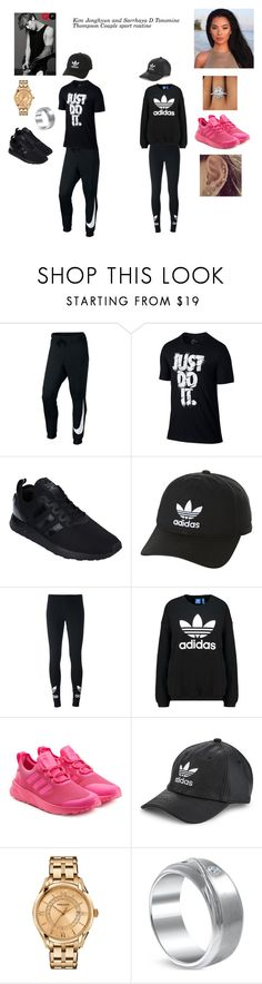"""SHINee's Jonghyun and VIBE$'s Sarrah"" by ygentertaiment on Polyvore featuring NIKE, adidas Originals et Versace"