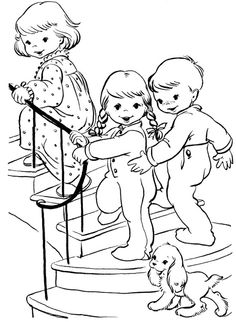 The Child Christmas Eve Coloring Page