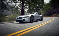 BMW I8 VS Angeles Crest HD Wallpaper Wide