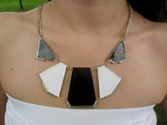 geometric necklase, love the colors