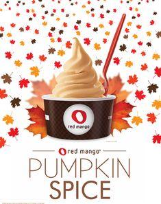 Red Mango's #PumpkinSpice is back for the fall!    #redmango #frozenyogurt #pumpkin