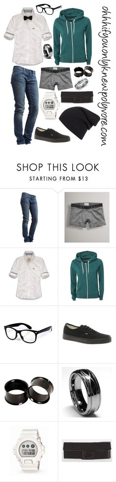 """""""Untitled #25"""" by ohhhifyouonlyknew ❤ liked on Polyvore featuring Rich & Royal, American Eagle Outfitters, Hollister Co., Blonde + Blonde, Vans, Hot Topic, G-Shock, Blue Nile, polyvore creations and my creations"""