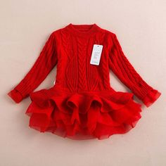 2016 New Baby Girls Pullovers Christmas sweater Dress Costume children warm winter Dresses Xmas Red color toddler girls Clothing(China (Mainland)) Christmas Sweater Dress, Girls Sweater Dress, Knit Sweater Dress, Girls Sweaters, Red Sweaters, Toddler Christmas Dress, Girls Jumpers, Christmas Dresses, Cotton Cardigan
