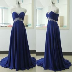 Upd0053, Royal Blue Prom Dresses,Royal Blue Prom Dress,Silver Beaded Formal Gown,Beadings Prom Dresses,Evening Gowns,Chiffon Formal dresses
