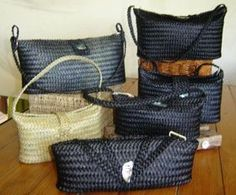 Maori design Black evening purses