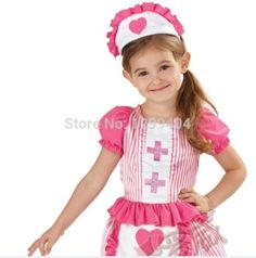 Cute-Nurse-Dress-and-Apron-Girls-Fancy-Dress-  sc 1 st  Pinterest & Girls Nurse Doctor Outfit Fancy Dress Up Costume Kids Child Toddler ...