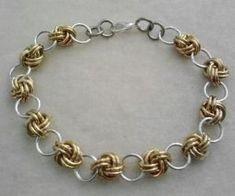 Free Chainmail Patterns Chain Maille | Love Knot Chain Maille chainmail bracelet by ~FyrestormCreations on ... by Patericia