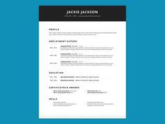 Resume Design Cv Template Minimalist Resume Modern Resumes