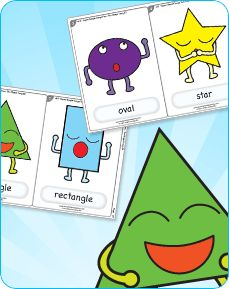 Learn shapes vocabulary with this super simple, super fun song. Very easy to teach!