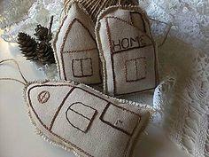 Dekorácie - domčeky na zavesenie (set) - 6151452_