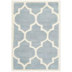 Safavieh Handmade Moroccan Blue Trellis-Pattern Wool Rug (3' x 5') - Overstock™ Shopping - Great Deals on Safavieh 3x5 - 4x6 Rugs