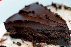Chocoladetaart met… aubergine