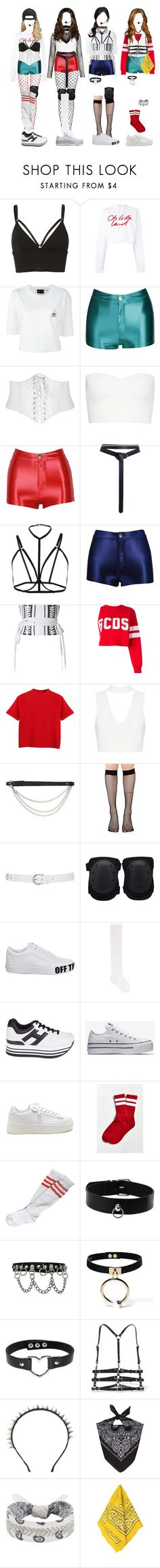 """[ special stage ] G-3 covering ' G-1 _ BLACK MAGIC + G-2 _ MY HEART (mashup) + [ live ] G-3 _ MY LOVE"" by xxeucliffexx ❤ liked on Polyvore featuring T By Alexander Wang, Each X Other, adidas, Victoria Beckham, Zimmermann, Alex Perry, GCDS, Chicnova Fashion, J.J. Winters and Music Legs"