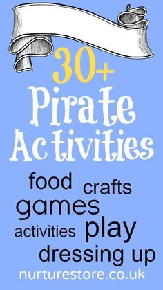 pirate activities :: pirate crafts :: pirate party ideas :: pirate snacks :: all things pirate!