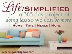 Simplifying health and home in 2014.