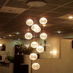 Industrial E14 Round Ball Ceiling Lights high quality Large Long Stair 10 Lights lustres de teto Glass Upscale atmosphere-in Ceiling Lights from Lights & Lighting on Aliexpress.com | Alibaba Group