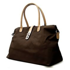Oversized Tosca Tote Handbag - Choice of Colors (Brown) - Top-Handle Bags