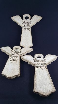 3 Angels Blessed Are The Meek  Merciful And Pure In Heart
