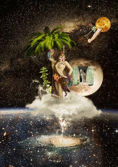 Trânsito de Vênus ~ Como vês o amor vai carregar as coisas na hora que ele chegar. Vai levar tudo que conseguir chutando as paredes que eu construí.  Como vês o amor vai desbotar as cores nas fotos que ele tocar. Vai levar no vento que soprar os dias, os meses, e o que virá. #collage