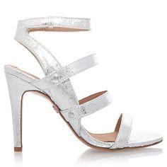 Buy KG by Kurt Geiger July Occasion High Heel Sandals, Silver Online at johnlewis.com