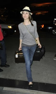 Emmy Rossum #airport #celebrity #style #fashion #actress #travel #looks
