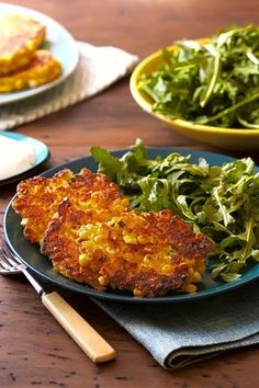 @Kat Ellis Hanson -Golden Corn Cakes With Citrus Greens  by Yotam Ottolenghi, WSJ. These look really good and gluten free...use non dairy yogurt and sour cream to make this a vegan delight!!