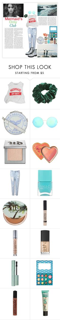 """Mermaid Club"" by silly-stegosaurus ❤ liked on Polyvore featuring Wild Pair, ESPRIT, Skinnydip, Victoria Beckham, Urban Decay, Witchery, Nails Inc., T.U.K., NARS Cosmetics and NYX"