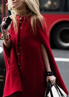Street style for fall chic....Cape