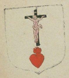La communauté des religieuses de l'Union chrétienne de la ville de Poitiers. Porte : d'argent, à un cœur enflammé de gueules, surmonté d'un crucifix dont le Christ est de carnation et la croix de sable | N° 52