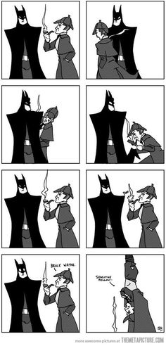 Geek Discover Funny pictures about Batman vs. Oh and cool pics about Batman vs. Also Batman vs. Dc Comics Funny Comics Nananana Batman I Am Batman Funny Batman Batman Humor Batman Stuff Batman Vs Superman Mrs Hudson Batman Vs, Superman, Batman Versus, Funny Batman, Batman Humor, Batman Games, Batman Stuff, Dc Comics, Funny Comics