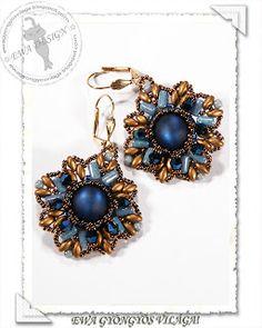 * Ewa gyöngyös világa!: Rullana fülbevaló / Rullana earrings - free pattern: http://ewagyongyosvilaga.blogspot.hu/2013/05/rullana-fulbevalo-minta-rullana.html