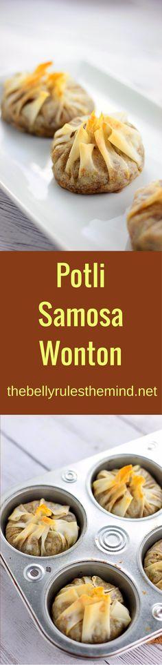 http://thebellyrulesthemind.net/2016/10/potli-samosa-wontons/ www.thebellyrulesthemind.net @bellyrulesdmind