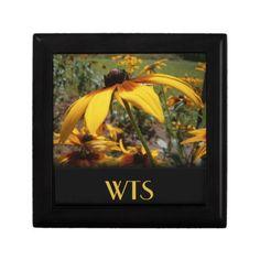 Yellow Wildflower Monogram Gift Box #zazzle
