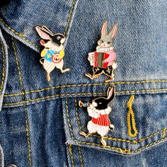 Find More Brooches Information about 3pcs/set Cute instruments rabbit Trumpet Banjo accordion Brooch Denim Jacket Pin Buckle Shirt Badge Cartoon Jewelry Gift Girls,High Quality badge cartoon,China jacket pins Suppliers, Cheap brooch gift from Miss Zoe Franchise Store on Aliexpress.com