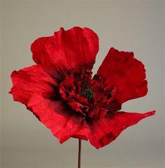 """Fleurs en papier """"Black Heart"""" Rouge ⎪Paper flower """"Black heart """" Red Design by L'Aparté"""