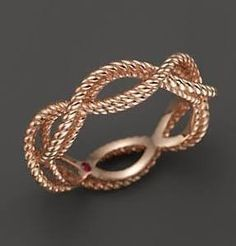 Barocco Braid Ring - Rose Gold
