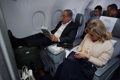 Mr and Mrs Netanyahu on their way to London