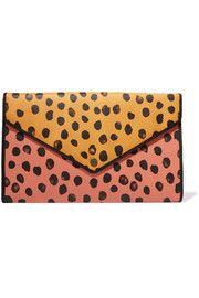 Marc by Marc Jacobs Printed faux textured-leather clutch