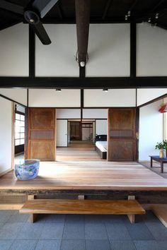 板の間 (から 木の家設計室 アトリエ椿)